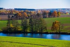 Autumn lake. In Czech Republic royalty free stock photos