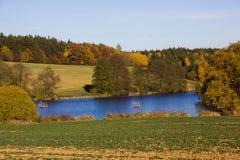 Autumn lake. In Czech Republic royalty free stock photo
