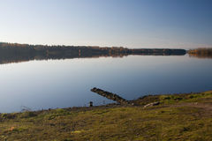 Autumn lake forest. Water reflection Royalty Free Stock Photography