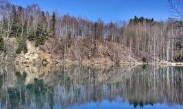 Autumn lake. In forest. Vysocina, Czech Republic Stock Photo