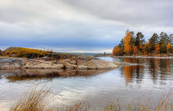 Autumn on Lake Ladoga, Karelia, Russia Royalty Free Stock Image