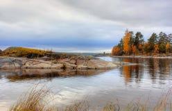 Autumn on Lake Ladoga, Karelia, Russia Royalty Free Stock Image