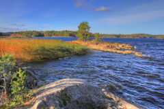 Autumn lake Ladoga, Karelia, Russia Royalty Free Stock Image