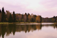 Autumn lake landscape Stock Photo