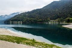 Autumn on the Lake Ledro. Trentino Italy Royalty Free Stock Image