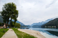 Autumn on the Lake Ledro. Trentino Italy royalty free stock images