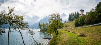 Autumn on the Lake Ledro Royalty Free Stock Photos