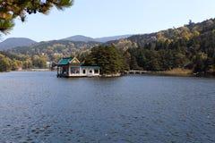 Autumn lake in lushan Stock Photos