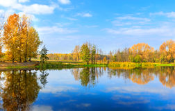 Autumn on lake Royalty Free Stock Image