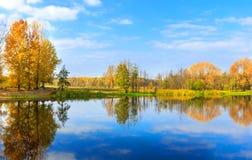 Autumn on lake royalty free stock image