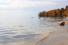 Autumn on Lake Onega, Russia royalty free stock images