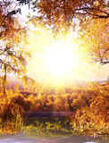 Autumn on lake Royalty Free Stock Photography