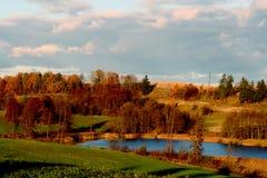Autumn lake in Poland Royalty Free Stock Image