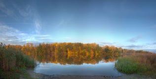 Quiet autumn lake Stock Photo