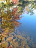 Autumn Lake reflection Stock Photography