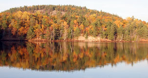 Autumn Lake reflection. In Quebec Royalty Free Stock Photos