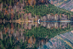 Autumn lake with reflection Stock Photo