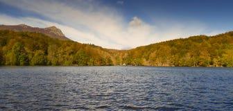 Autumn in Lake Santa Fe, Montseny. Spain Stock Photo