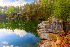 Autumn on lake Stock Photo