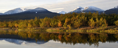 Autumn lake scenery Stock Image