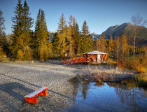 Autumn Lake Scenery. Picturesque morning autumn lake scenery Royalty Free Stock Photography