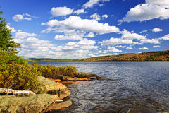 Autumn lake shore Royalty Free Stock Images