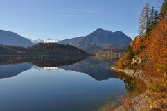 Autumn lake in styria Stock Image