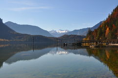 Autumn lake in styria Stock Photography
