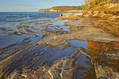 Autumn Lake Superior Shoreline Stock Images