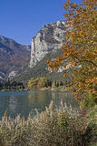 Autumn at Lake Toblino Stock Images