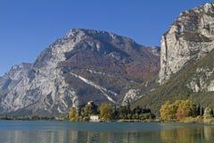 Autumn at Lake Toblino Stock Images