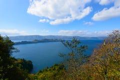 Autumn in the Lake Towada Stock Photos