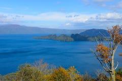 Autumn in the Lake Towada Stock Photo