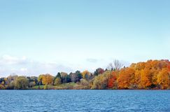 Autumn lake view Royalty Free Stock Photography