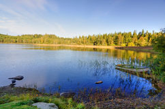 Autumn lakes bay panorama Royalty Free Stock Image