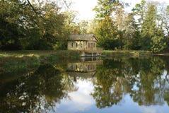Autumn lakeside scene Royalty Free Stock Photo