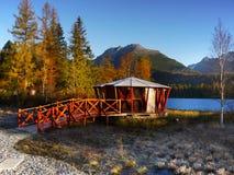 Autumn Lakeside Scenery Stock Photo