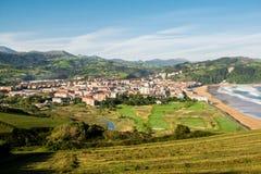 Autumn Landsape de Zarautz, país Basque, Espanha Fotos de Stock