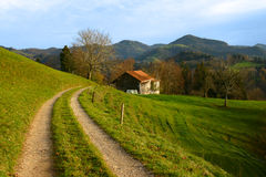 Autumn landscape. In Swiss Alps Royalty Free Stock Photography
