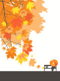 Autumn landscape. Romantic autumn, landscape, vector illustration Royalty Free Stock Images