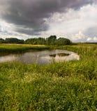 Autumn landscape. Rural autumn landscape in Russia Royalty Free Stock Photo