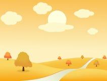 Autumn_landscape Photographie stock libre de droits