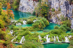 Autumn Landscape. Scenic autumn landscape with numerous waterfalls, cascades and lakes Stock Photography