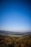 Autumn landscape. The mountain autumn landscape with a plane Royalty Free Stock Photo