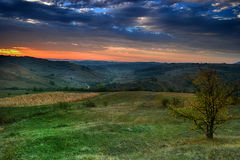 Autumn landscape. With beautiful pastel colors stock photo