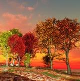 Autumn landscape royalty free illustration