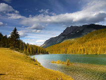 Autumn Landscape and Alpine Lake Royalty Free Stock Images