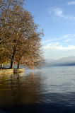 Autumn landscape in Annecy lake, Savoy, France Stock Photo