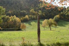 Autumn landscape in the Marche - Italy Royalty Free Stock Photos