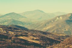 Landscape in the Apennines mountains, Italy Royalty Free Stock Photography